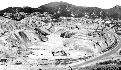 Site formation of Kadoorie Hill in progress, 1930s